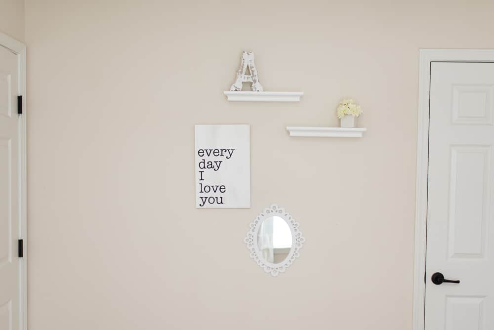little girls bedroom wall decor every day i love you sign