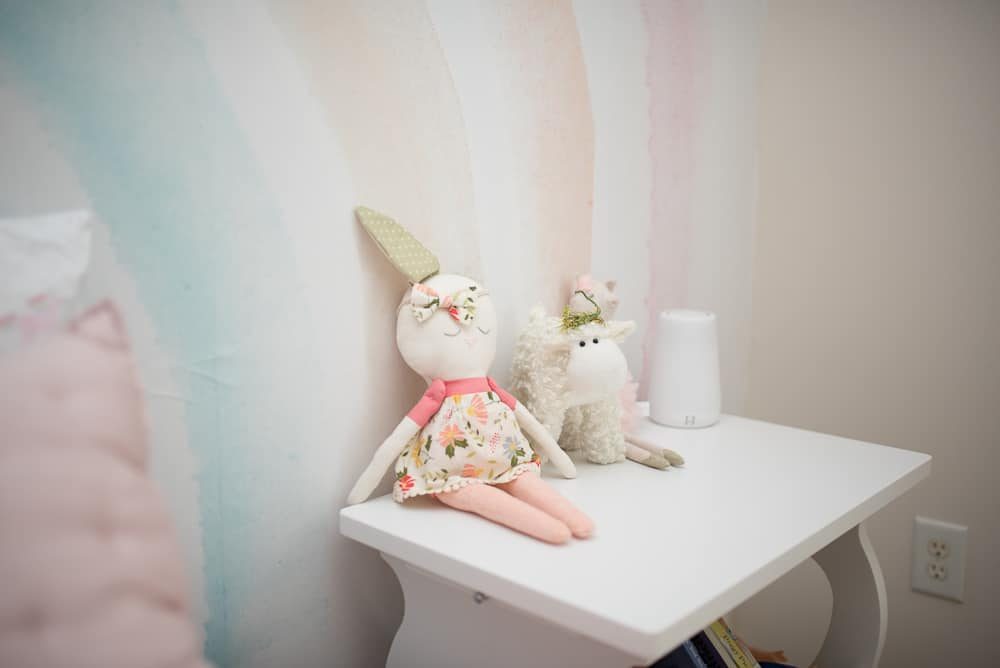 little girls bedroom bedside table