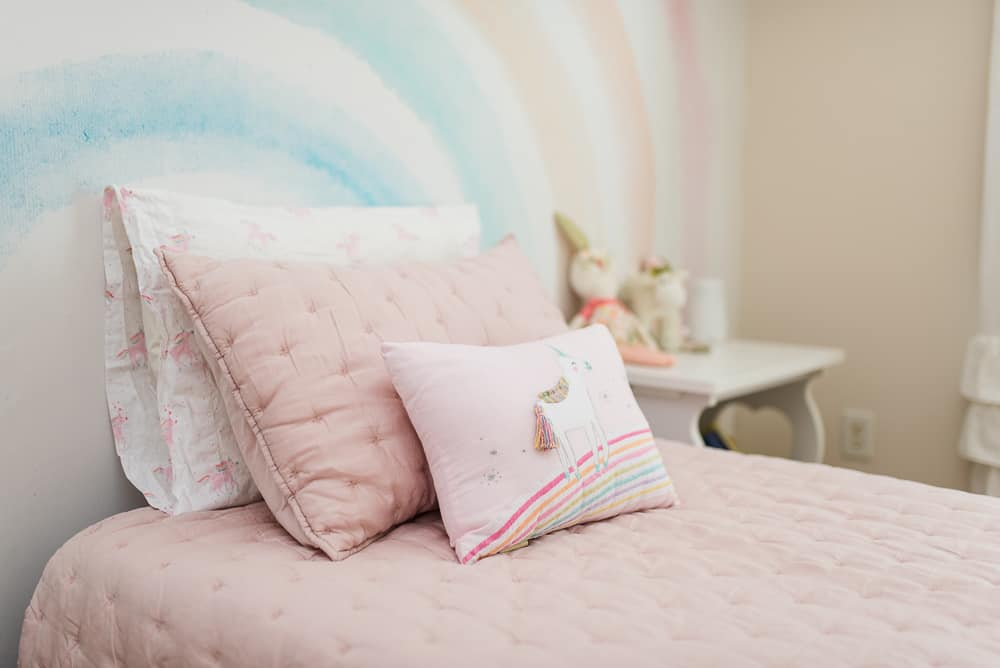 pink unicorn pottery barn kids bedding