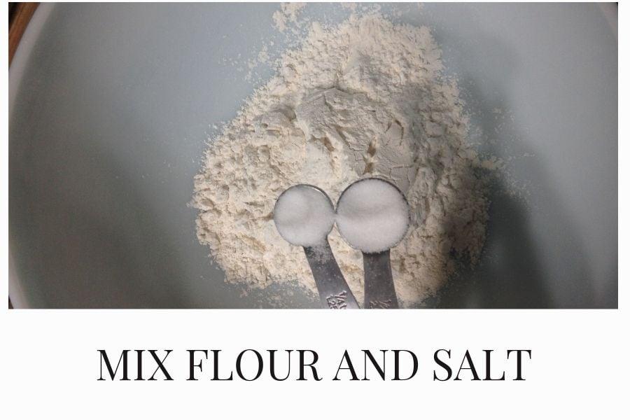 Mix flour and salt together.