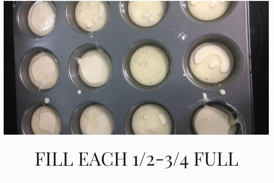 Fill muffin tin 1/2 - 3/4 full with Yorkshire pudding batter