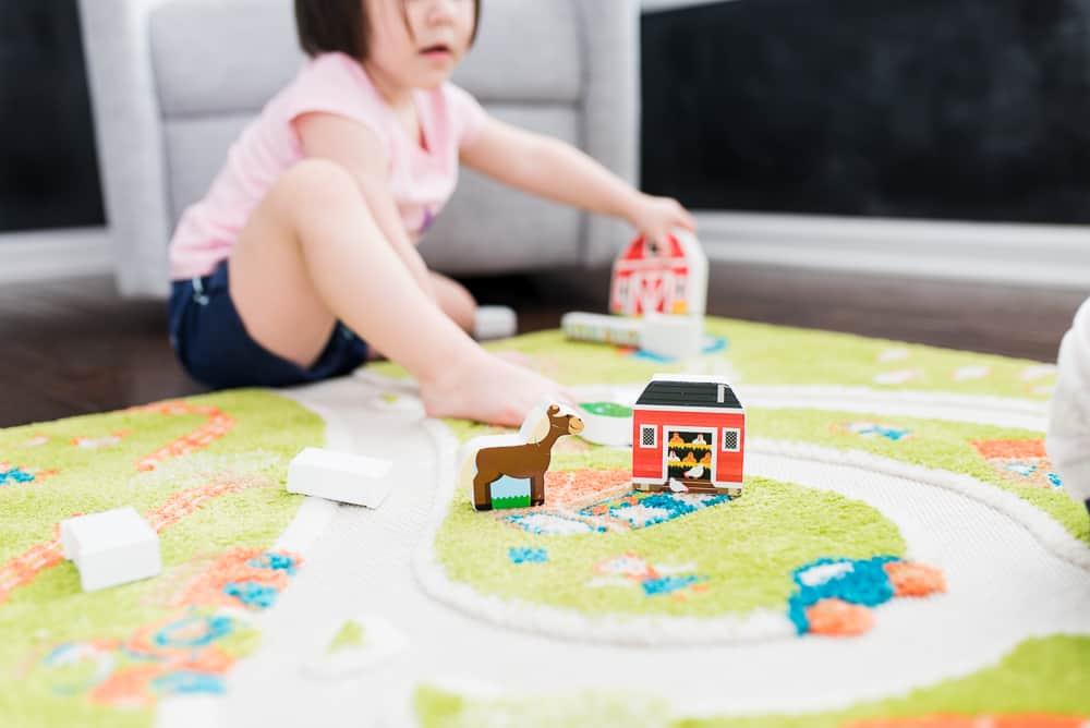 IVI World farm rug in toddler playroom