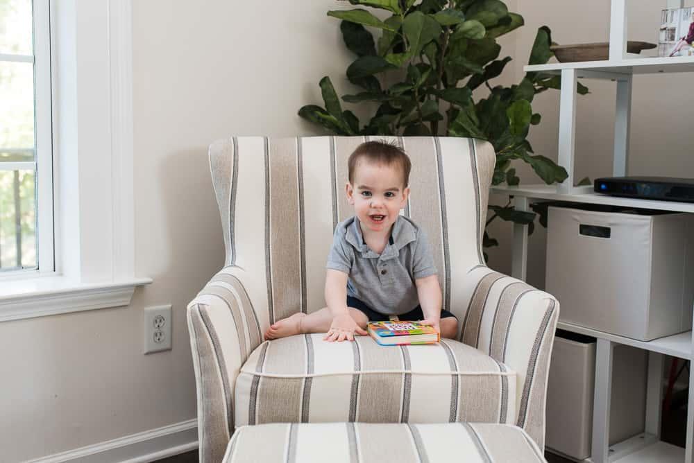 baby sitting in Berkeley Chair