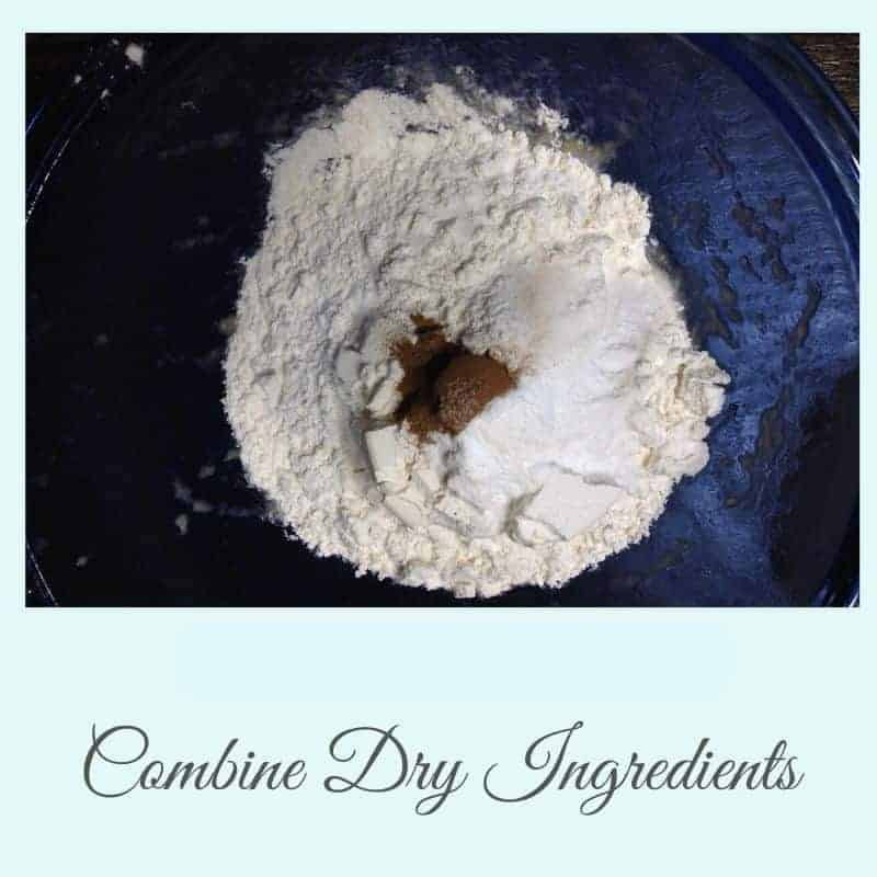 combine dry ingredients for muffins