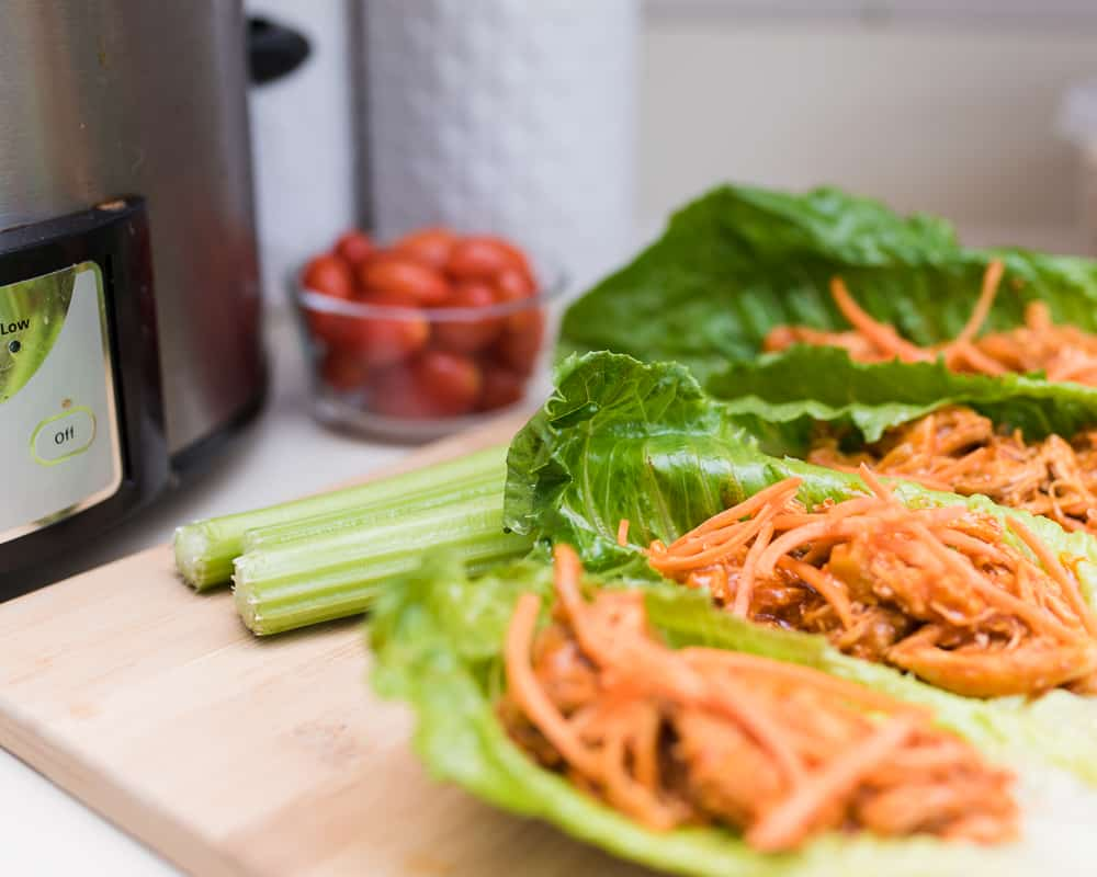 crockpot buffalo chicken wraps