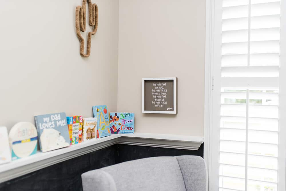 toddler playroom reading nook