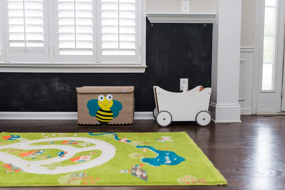 toddler playroom toybox and wagon