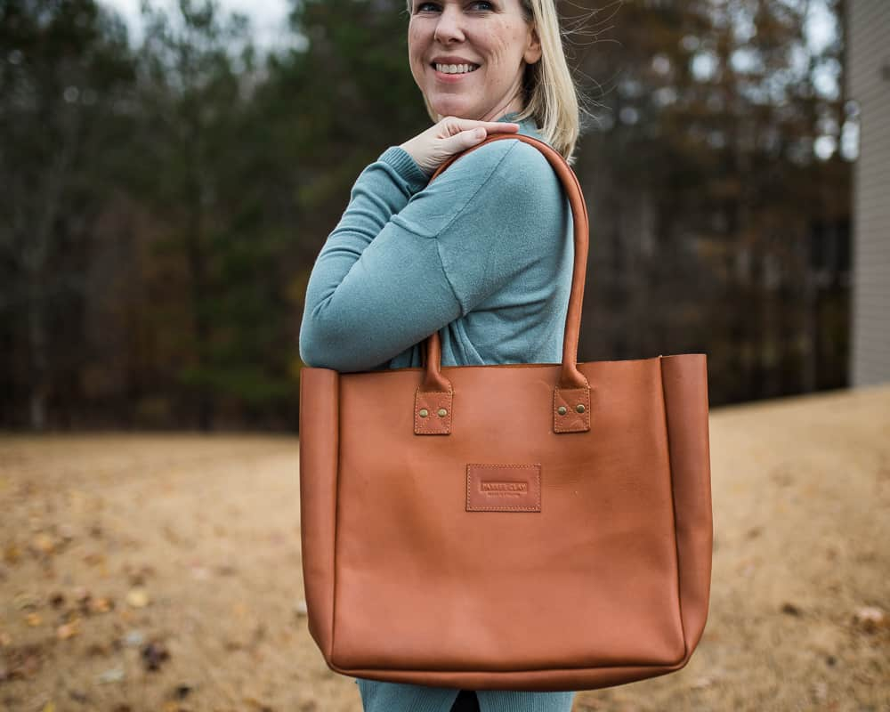 Parker Clay luxury handbag ethically made gifts
