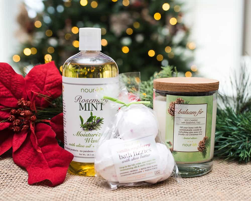 3 Nourish natural bath products