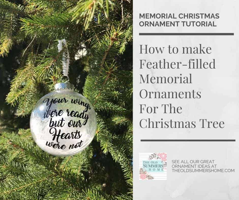 how to make a feather filled memorial ornament for the christmas tree