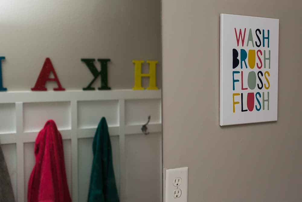 Words in home decor promote early literacy