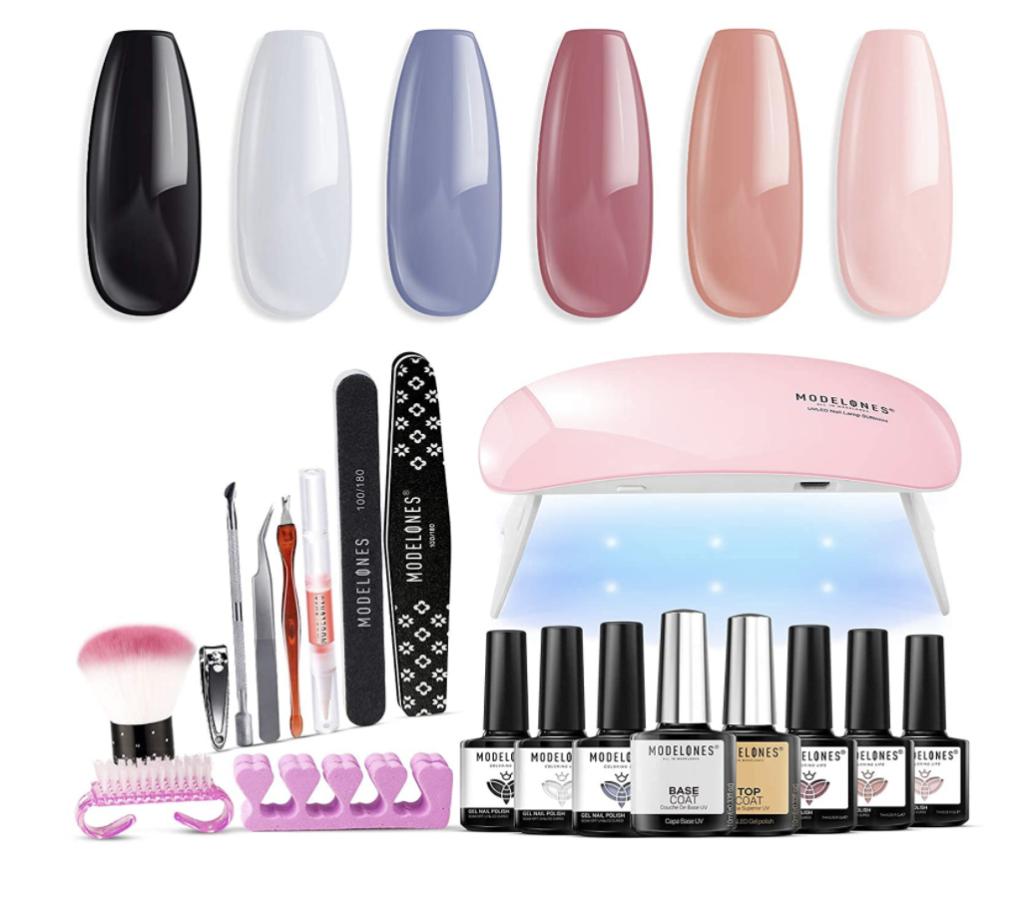 gel nail polish kit with UV light
