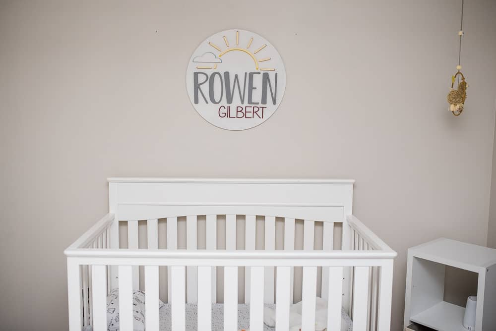 name in bedroom decor encourages early literacy