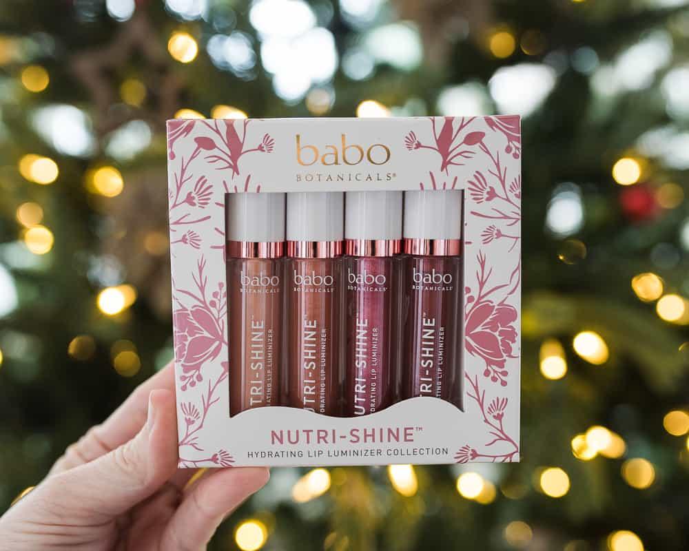 Babo Botanicals nutrishine lip gloss set