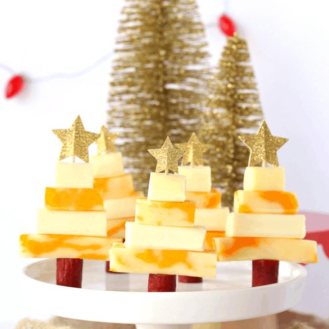 Cheesy Christmas trees.