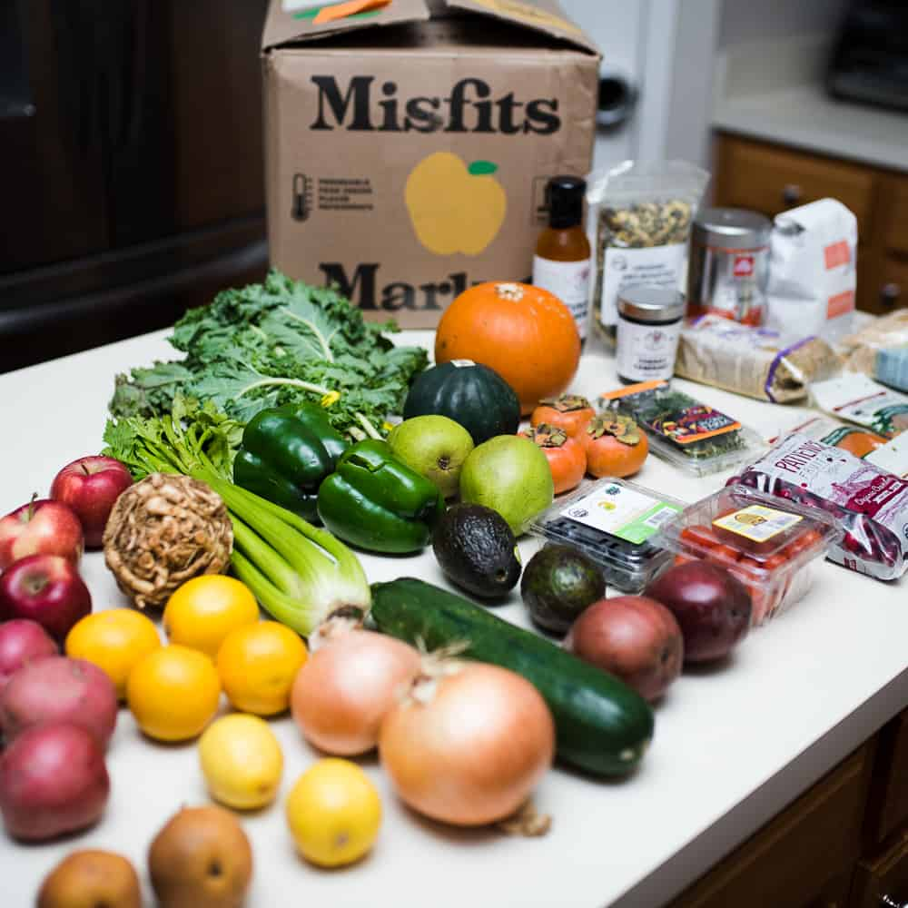 Misfits market box of fresh produce