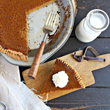 Easy paleo pumpkin pie!