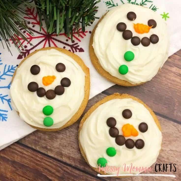 Easy snowman cookies.