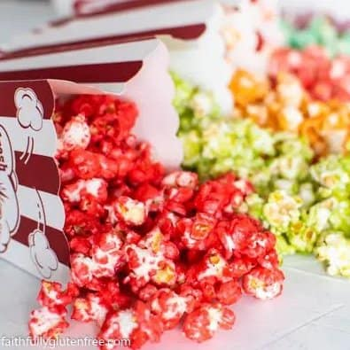 Colorful popcorn is easy to make and fun for kids.