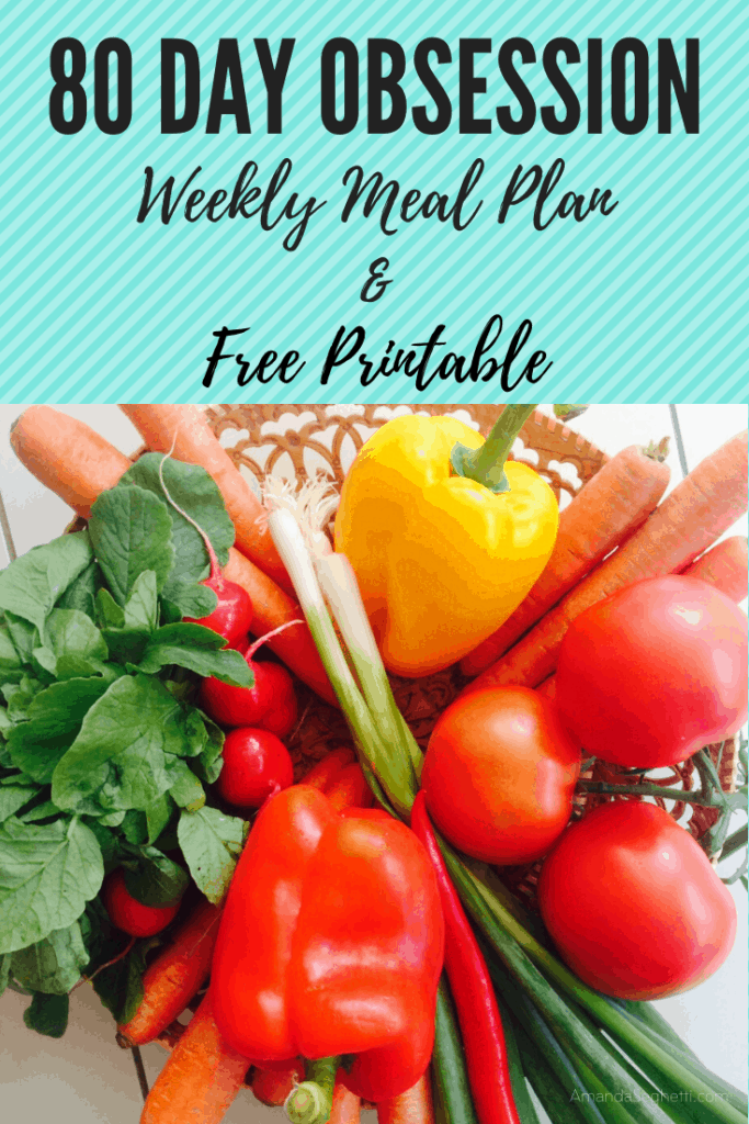Georgia healthy lifestyle blogger, Amanda Seghetti, shares an 80 Day Obsession Meal Plan & Free Printable!