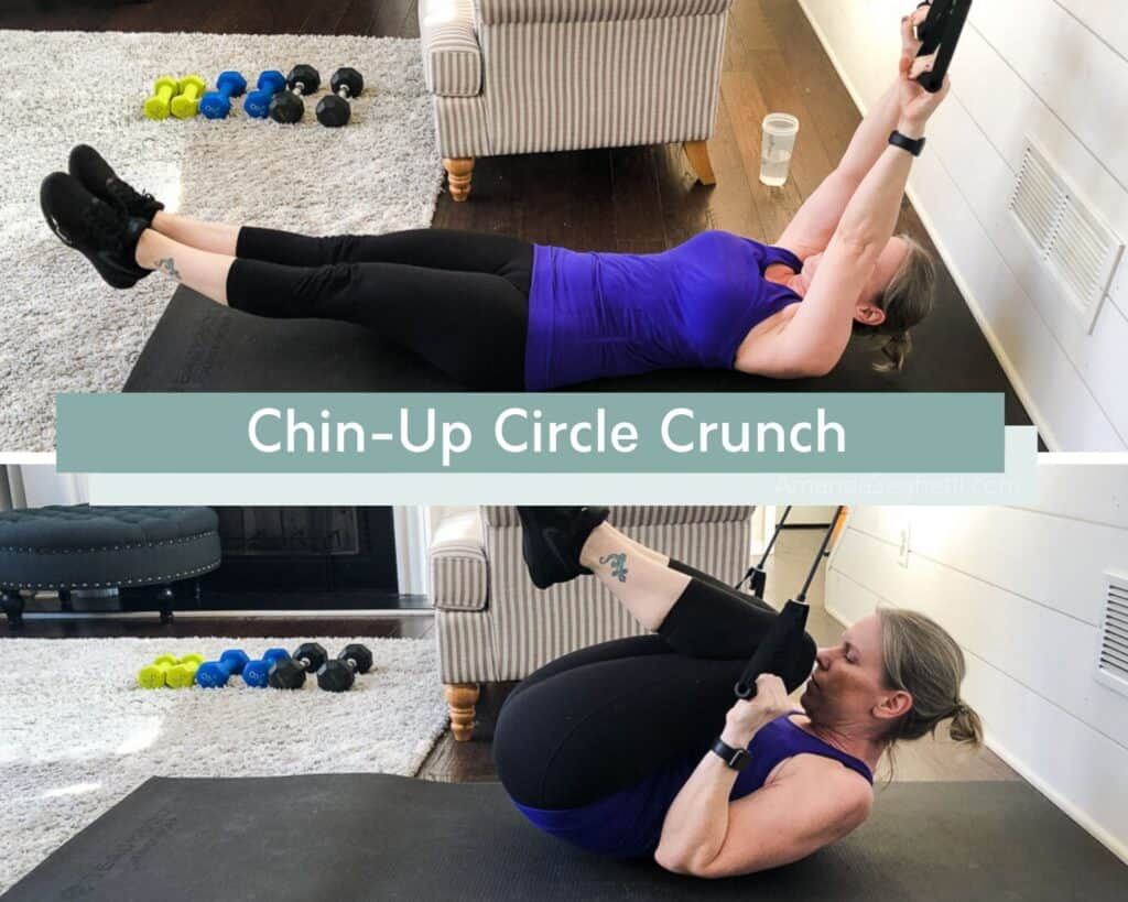 Chin-Up Circle Crunch Modified Version with fitness and lifestyle blogger Amanda Seghetti