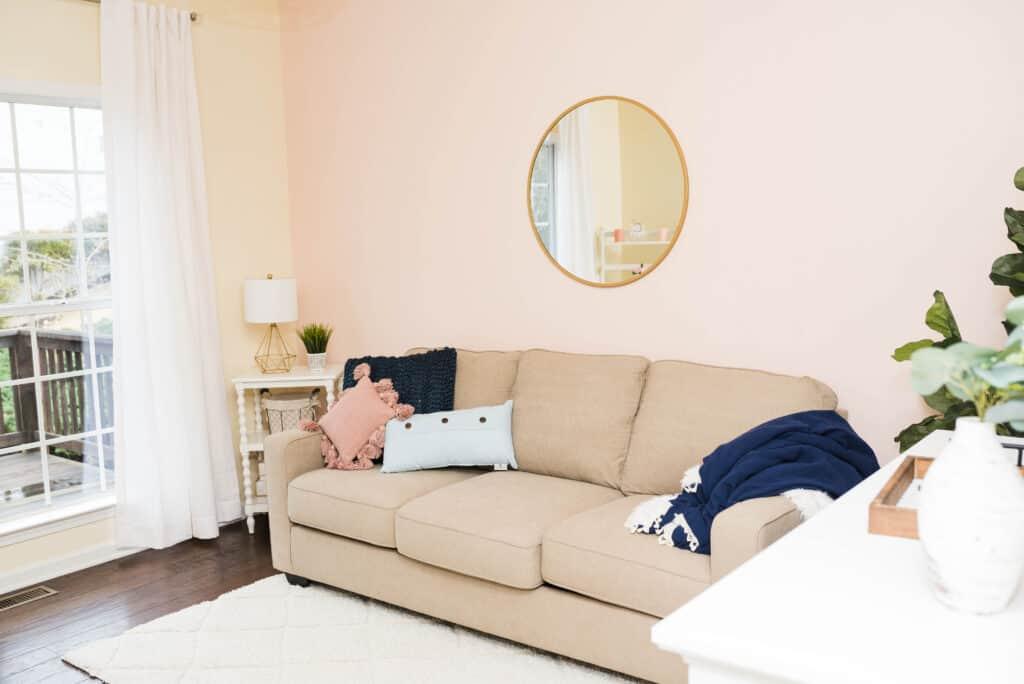 Guest room sofa sleeper