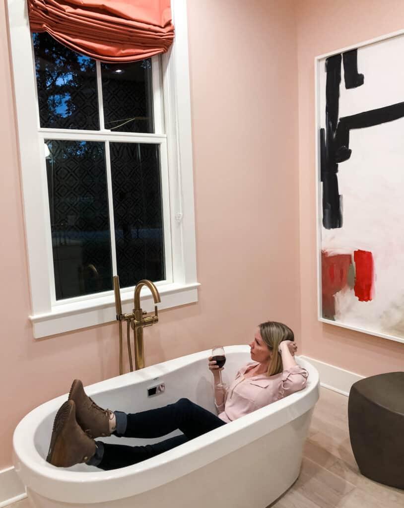 HGTV Dream Home 2020 master bath with lifestyle blogger Amanda Seghetti