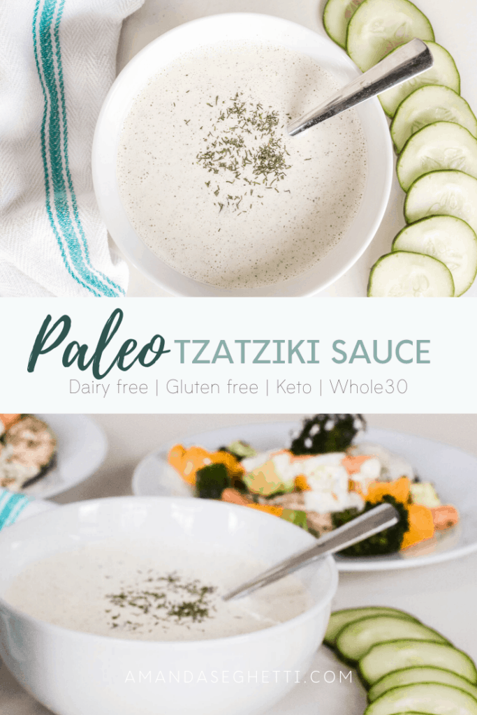 Paleo Tzatziki Sauce | Keto, Dairy Free, Gluten Free, Whole30