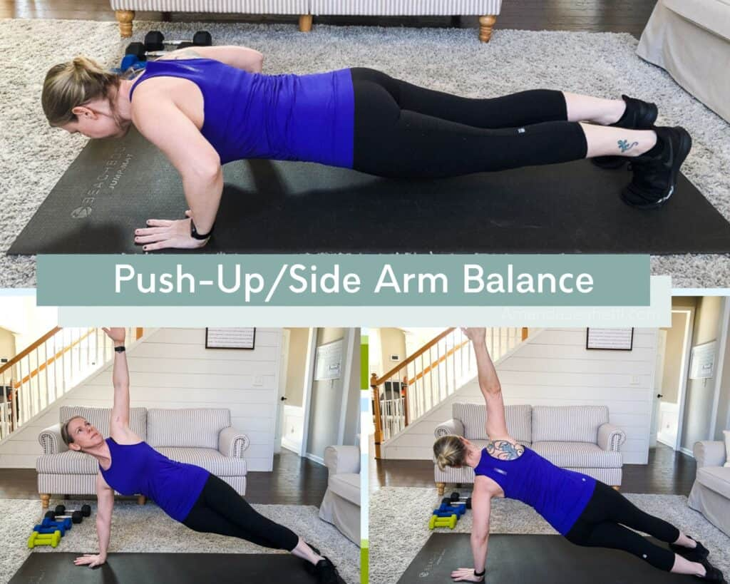 P90X3 Push-Up/Side Arm Balance Demonstration