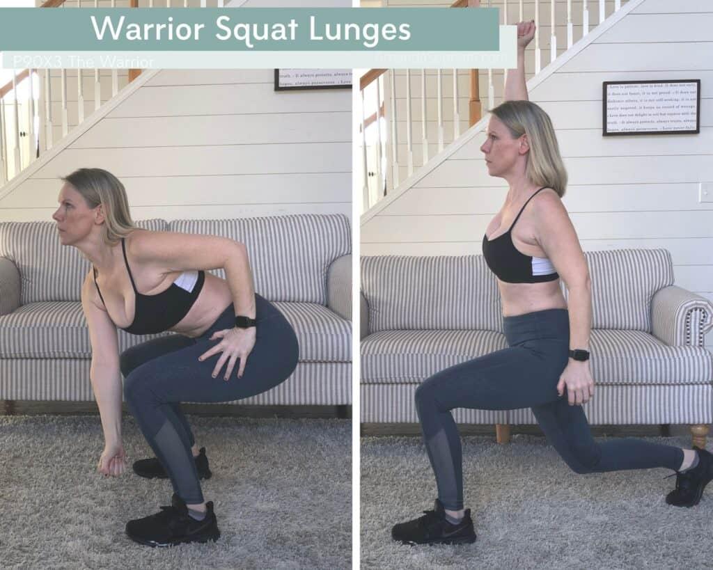 Warrior Squat Lunges 1 - Amanda Seghetti