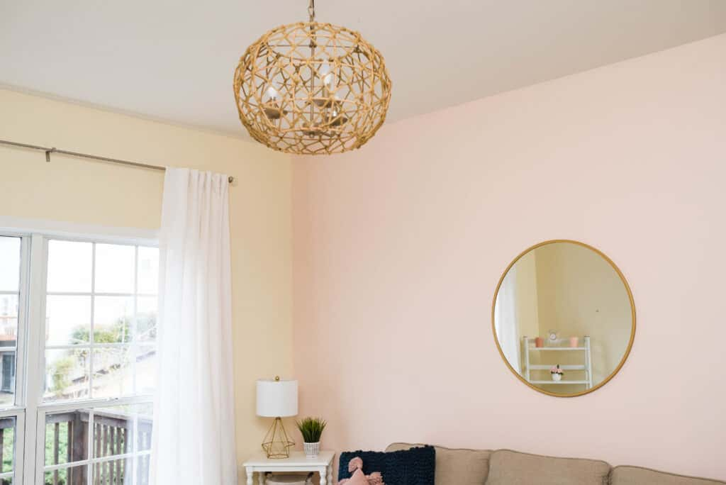 statement lighting in guest room office combo
