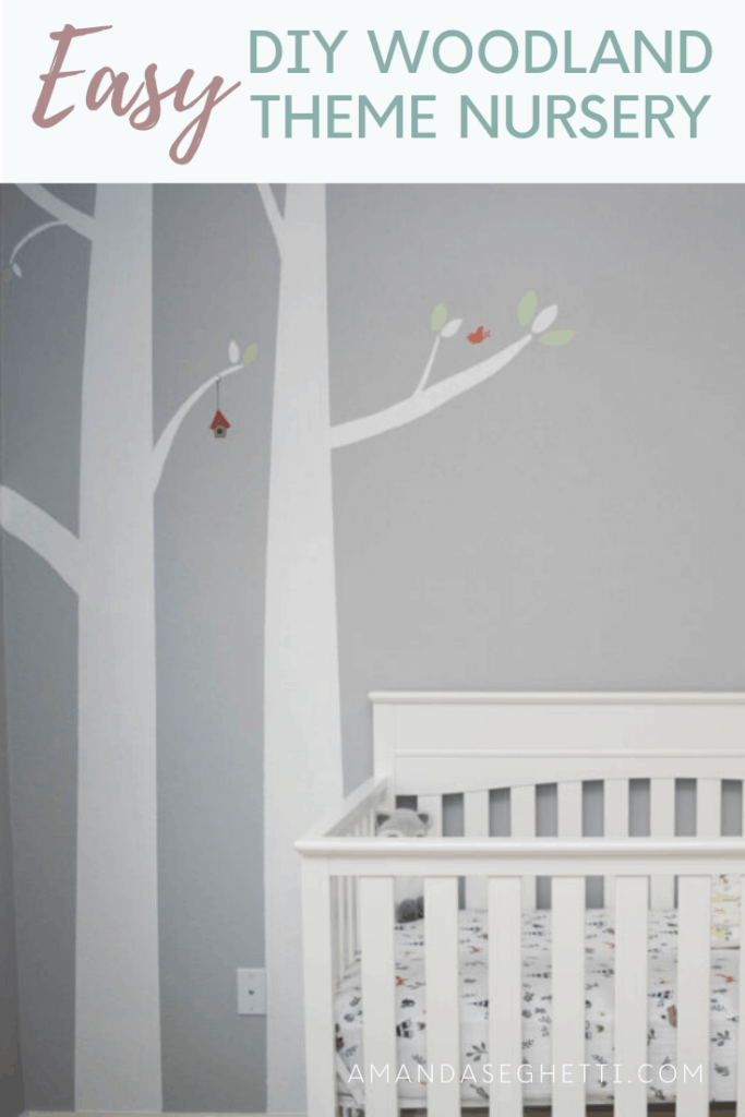 Easy DIY Woodland Theme Nursery Pin - Amanda Seghetti