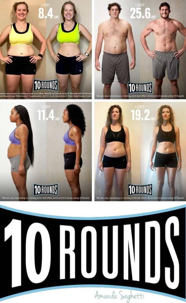 10 Rounds transformation collage pin - Amanda Seghetti
