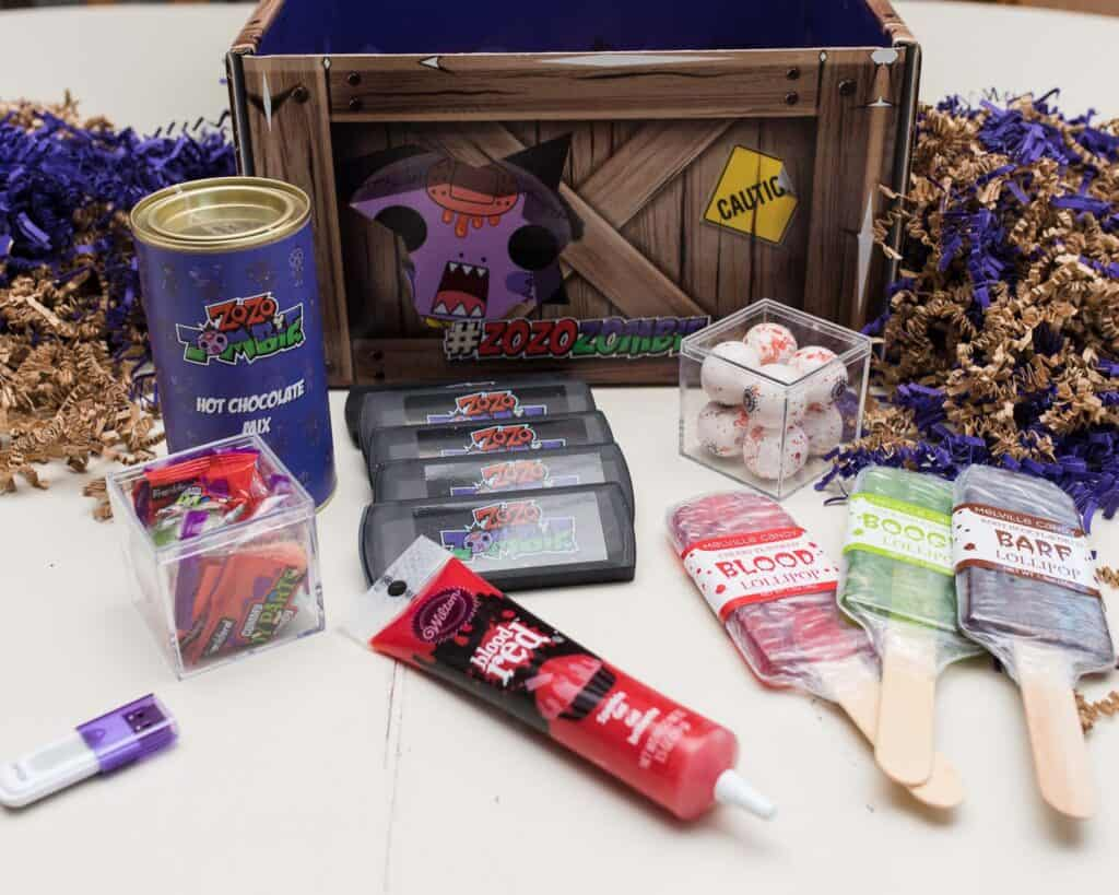 Zo Zo Zombie box contents - Amanda Seghetti