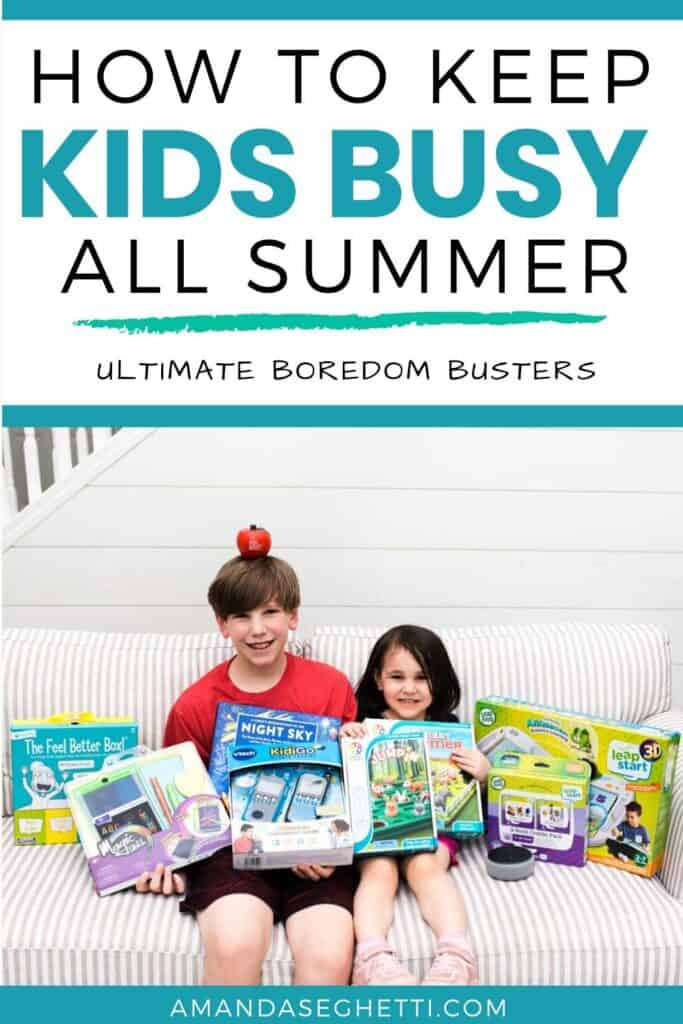 Looking for ways to keep the kids entertained and busy? This list of fun boredom busters is full of things your kids will actually love!
