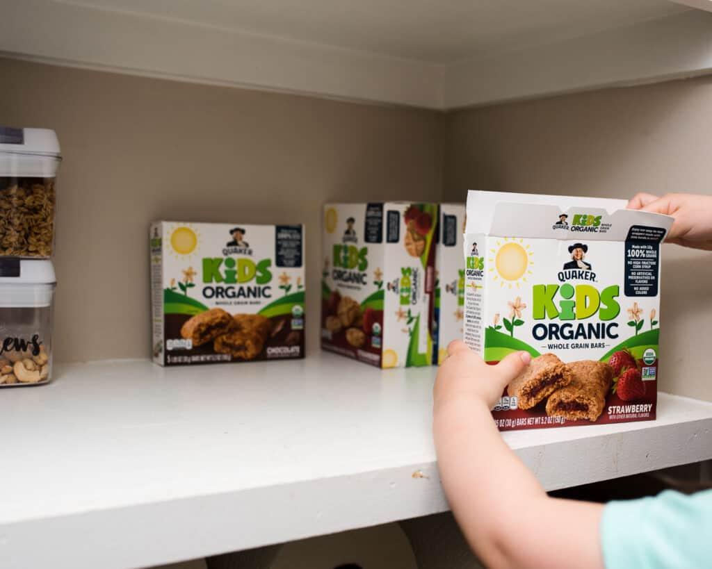 Quaker Kids Organic in pantry