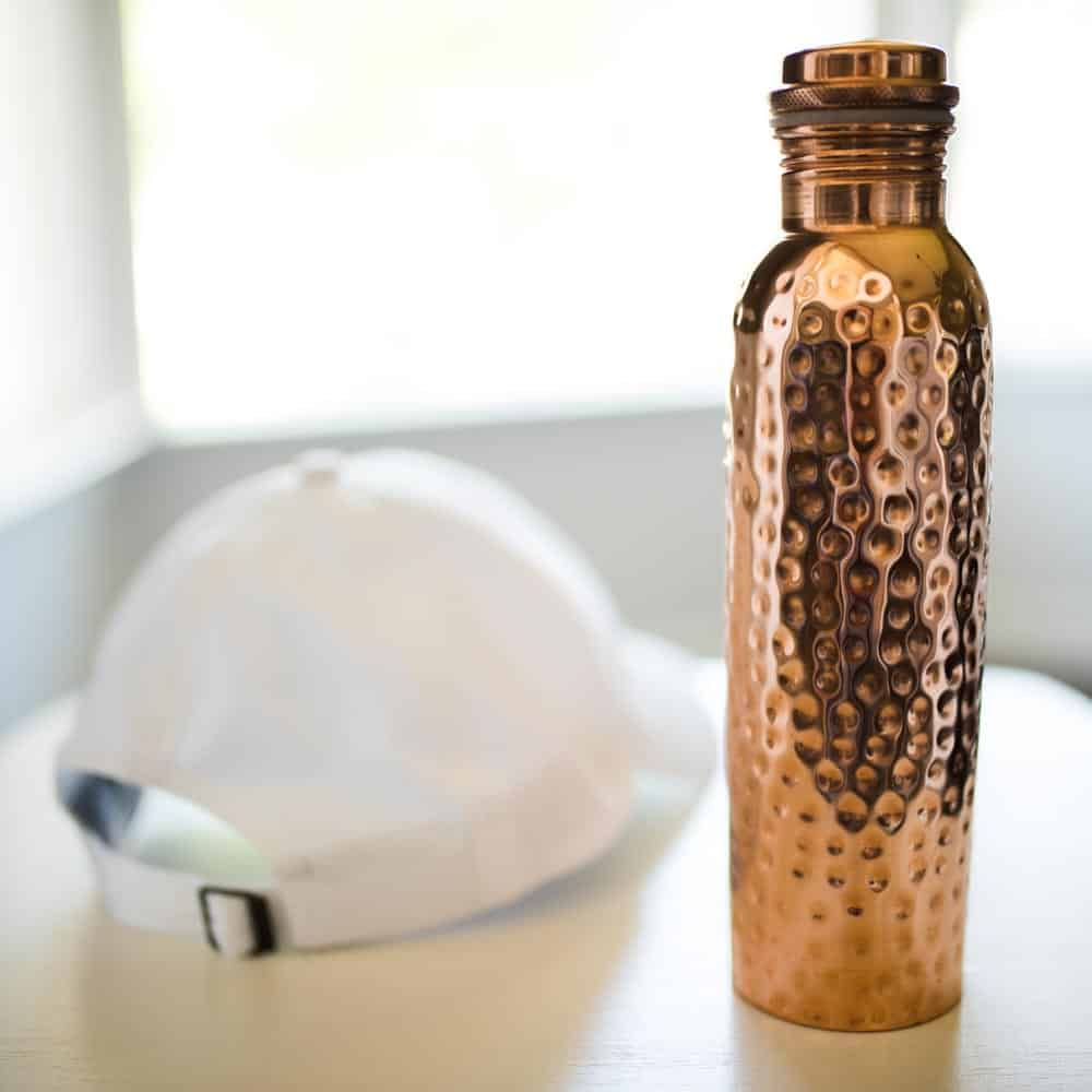 copper h2o water bottle