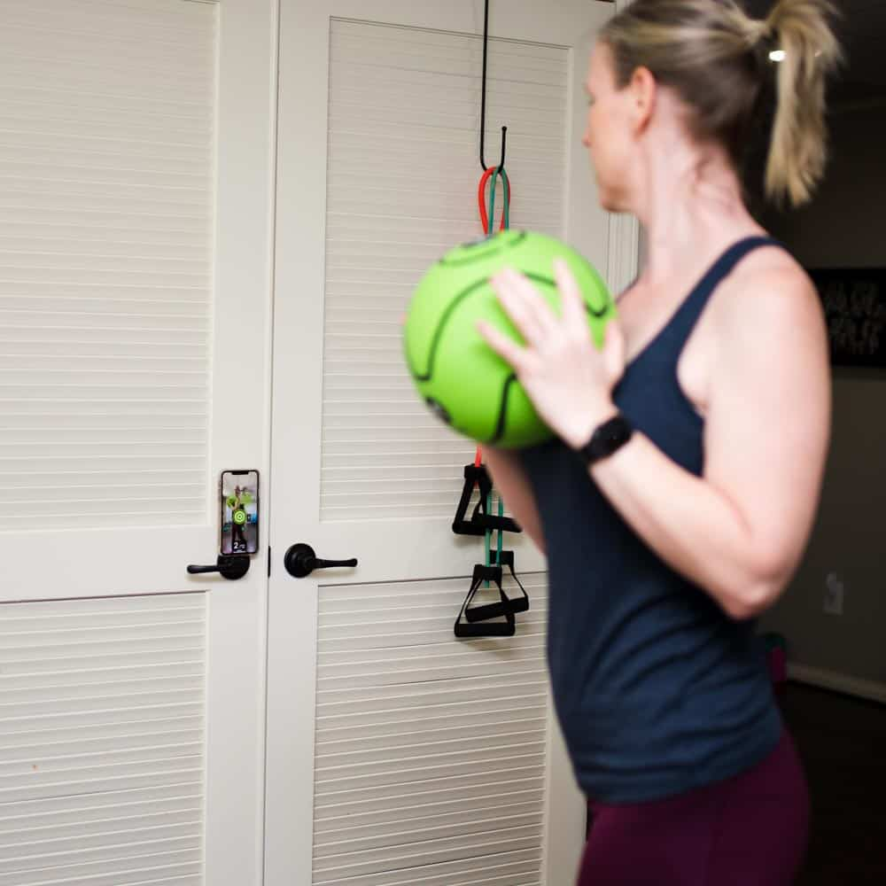 exercising with dribbleup medicine ball