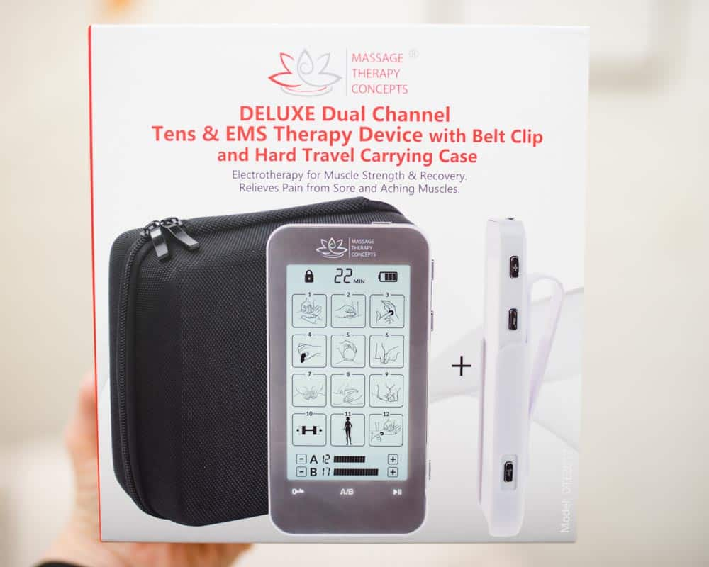 massage therapy concepts TENS and EMS therapy device