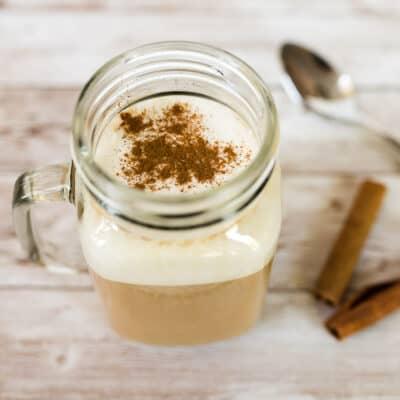mug of chai with cinnamon