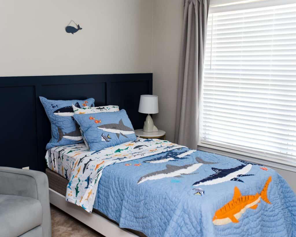 shark bedding big boy bedroom makeover