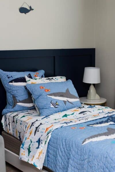 pottery barn kids shark party bedding square