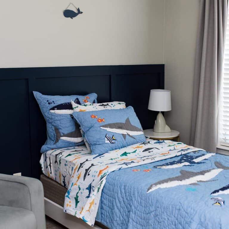 Toddler Big Boy Bedroom Makeover | Shark Bedroom Decor