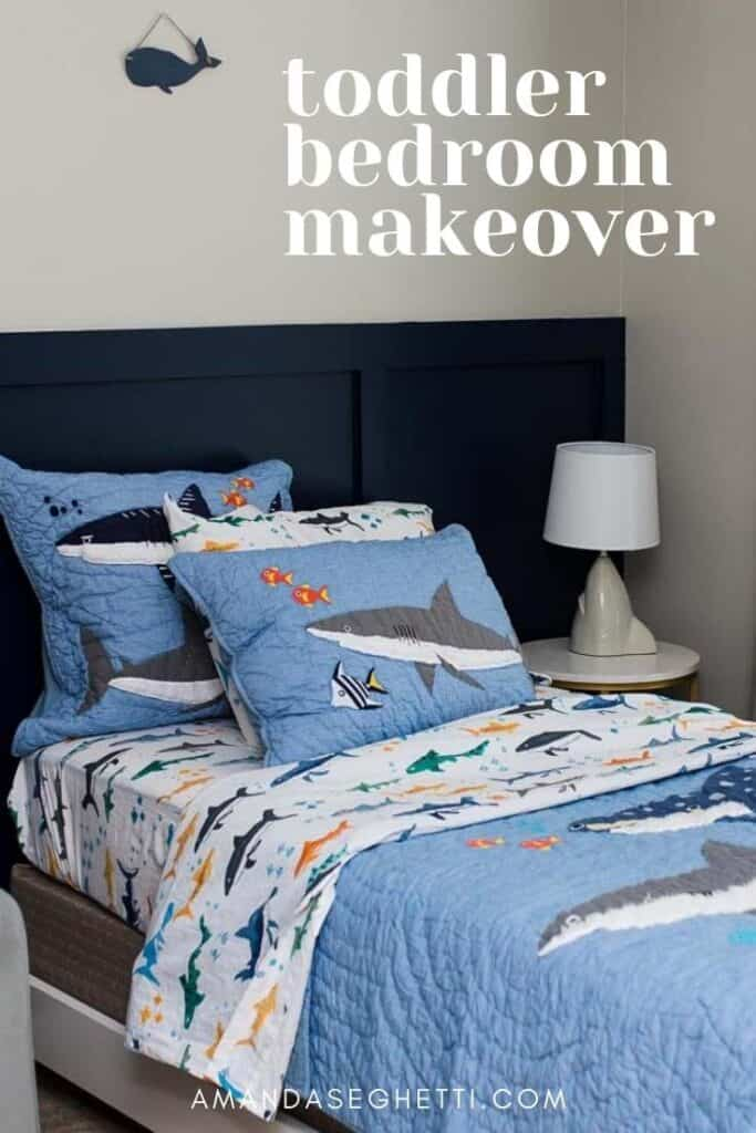 toddler bedroom makeover pin