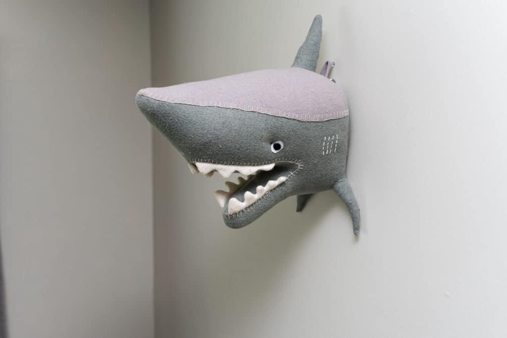 shark head wall decor from Target