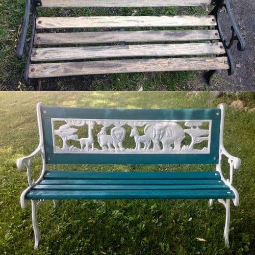 How To Restore An Old Iron Bench Into A Beautiful Garden Bench