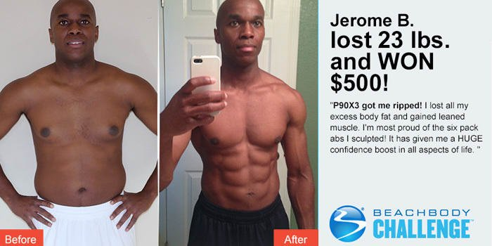 before and after photos p90x3