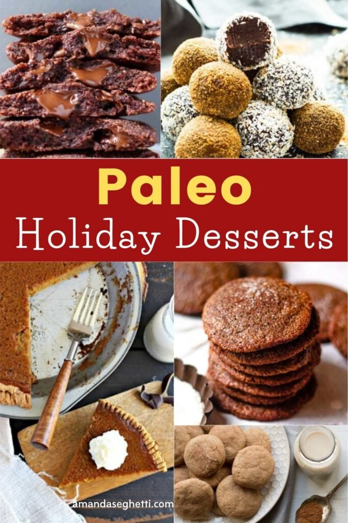 Paleo Holiday Desserts pin