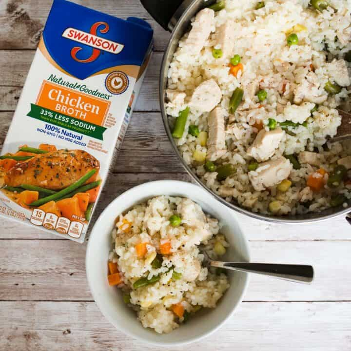 Quick chicken and rice with swanson chicken broth