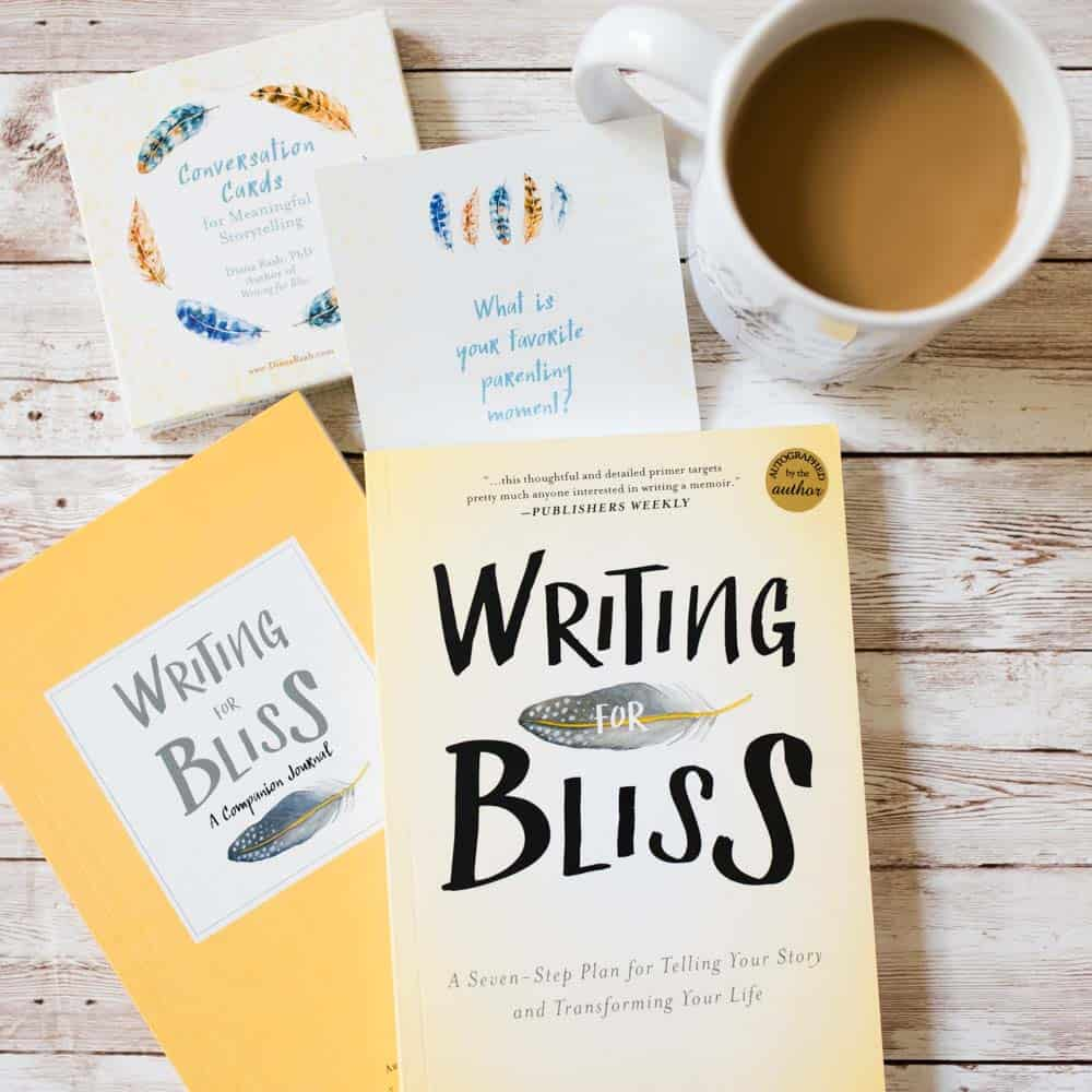 conversation cards and writing for bliss books